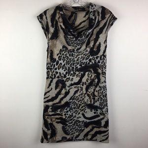W118 Walter Baker Cowl Neck Leopard Dress